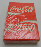 COCA COLA PLAYING CARDS ADVERTISING 1984 RED COKE BRIDGE SIZE NEW IN PLASTIC