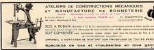 MANUFACTURE DE BONNETERIE SCIE A RUBAN PARIS PUBLICITE PUB 1929 FRENCH AD