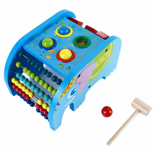 Wooden Toy Multi-color Knocking Tables Baby Educational Musical Instrument Toy G
