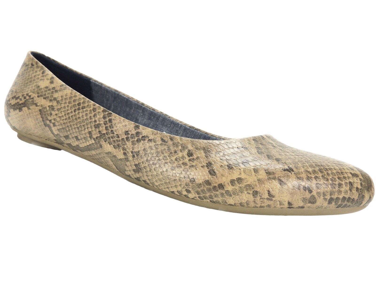 per poco costoso Dr. Scholl's Donna Donna Donna Really Flats Stucco Snake Dark Beige Marronee Dimensione 7 M  negozio fa acquisti e vendite
