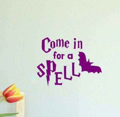 Wall Art Decoration Halloween Come in for Spell Door Vinyl Decal Sticker