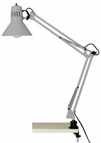 Lámpara de Escritorio Flexo con Pinza, color gris