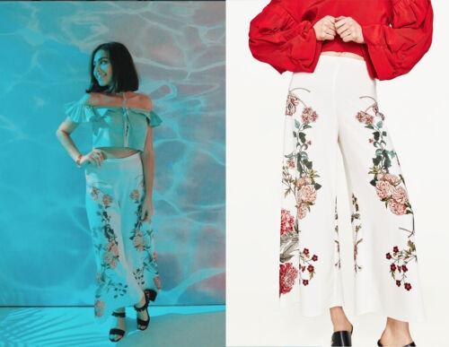 Zara Woman CULOTTE BIANCO ECRU blumenprint floral pattern Pantaloni Pants