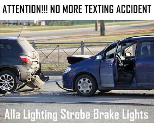 Alla Lighting 33-LED 1157 Strobe Brake Light Bulb Center High Mount Stop Parking