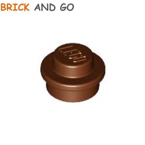 15 x LEGO 6141 Plaque Ronde Round Plate 1x1 NEUF NEW marron brown