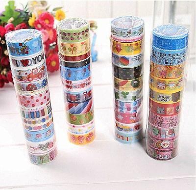 Wholesale 1.5cm×2.5M paper Sticky Adhesive Sticker Decorative Washi Tape 50 PCS