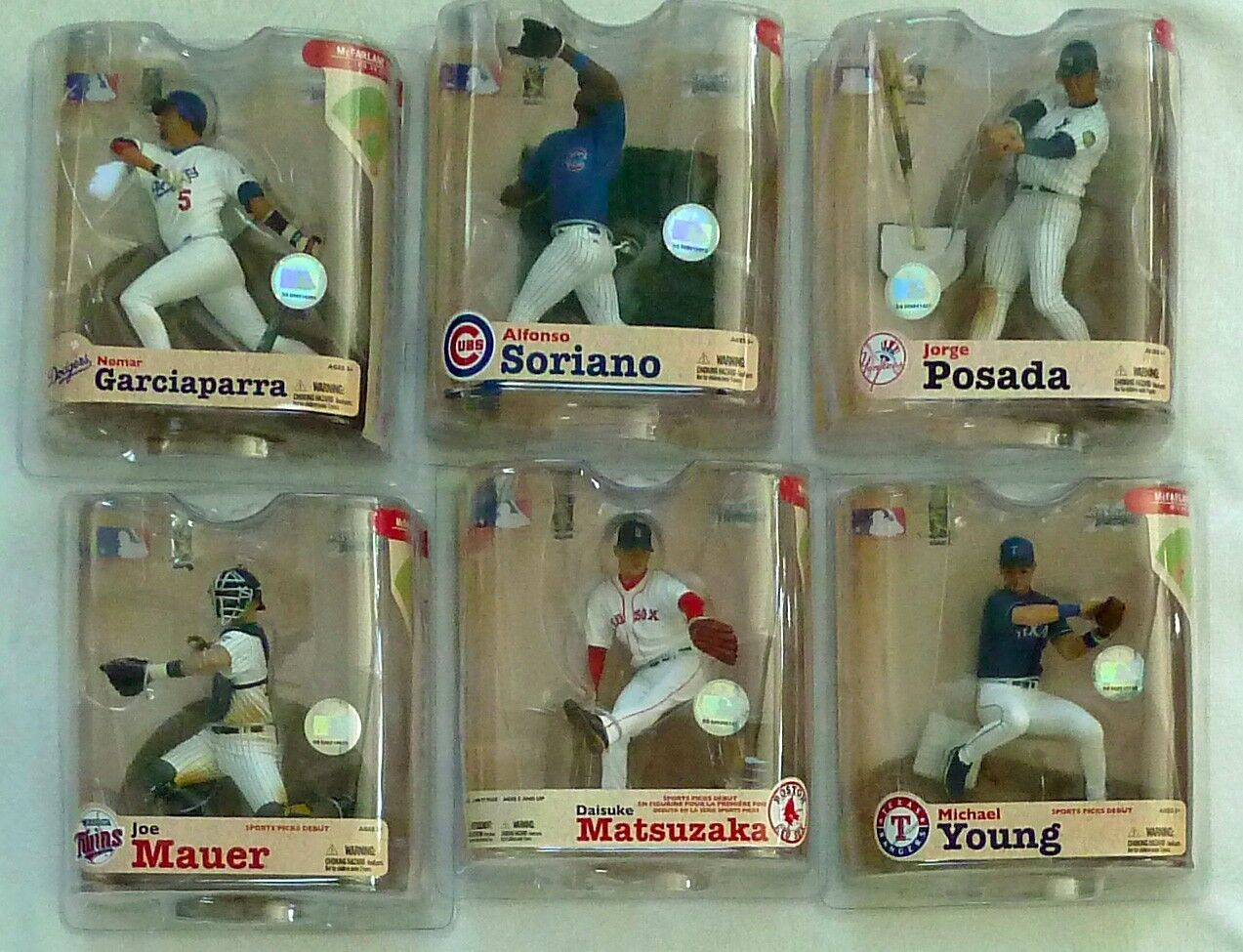 McFarlane MLB 11 COMPLETE SET Damon,Griffey,Guerrero,Halladay,Piazza,Prior,ARod