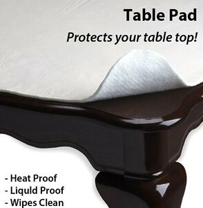 New in sealed table protector table pad vinyl flannel back for Table induction 70 x 52