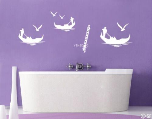 Wandtattoo Bad Badezimmer Wojnzimmer Meer Ozean Flur Blaue Lagune Venedig uss497