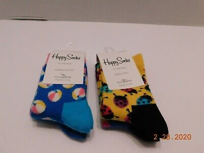 2 pares Happy Socks 12-24 meses
