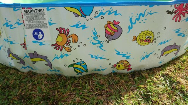 Kids Splash Play Pool | Baby Toddler Wading | Rigid Wall | No Assembly Required