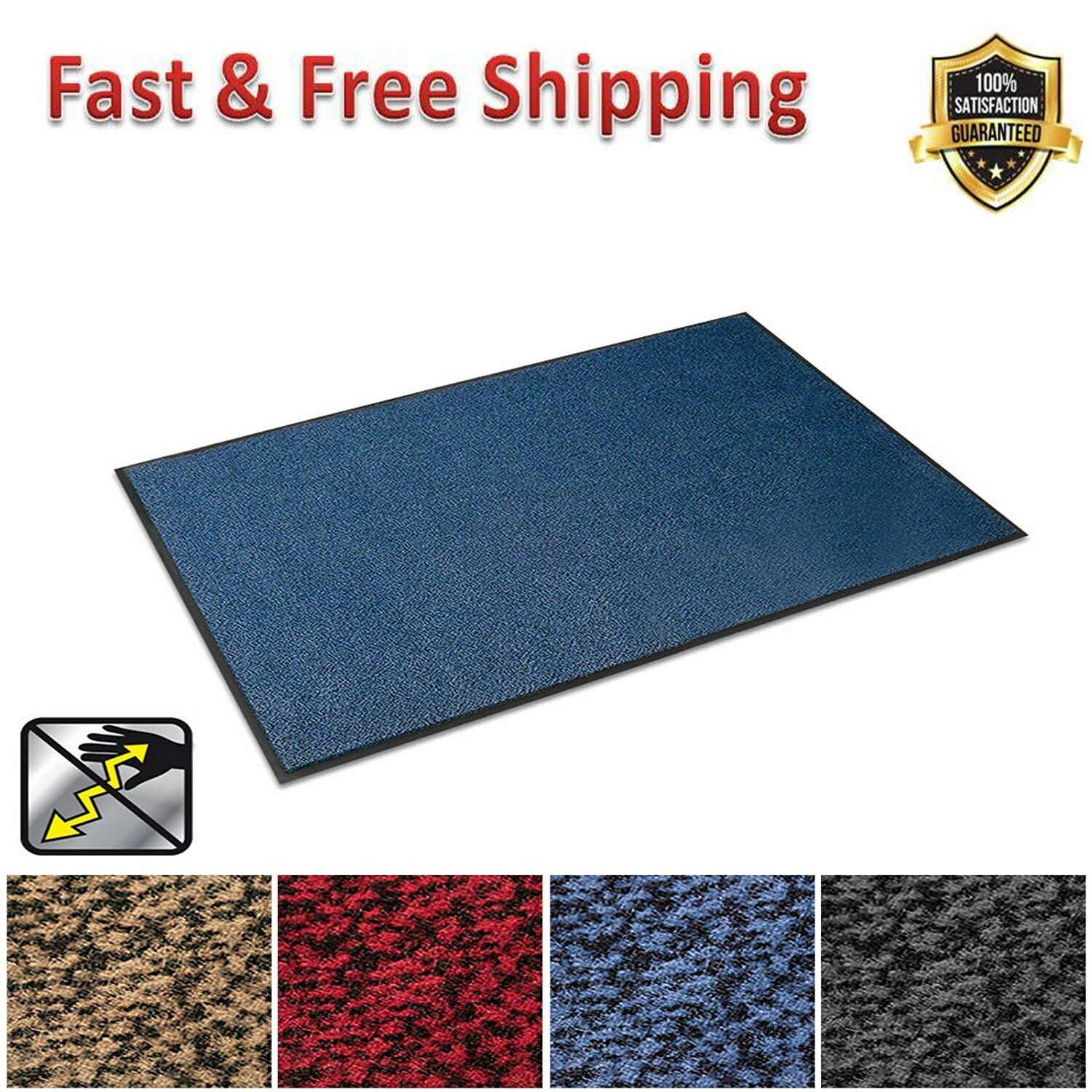 Anti Static Entrance Mat Indoor Indoor Indoor Outdoor Front Door Entry Rug 36  x 48  Blau New 82d11e