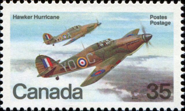 Canada Scott 876 Hawker Hurricane (1935) VF MNH OG (20609)