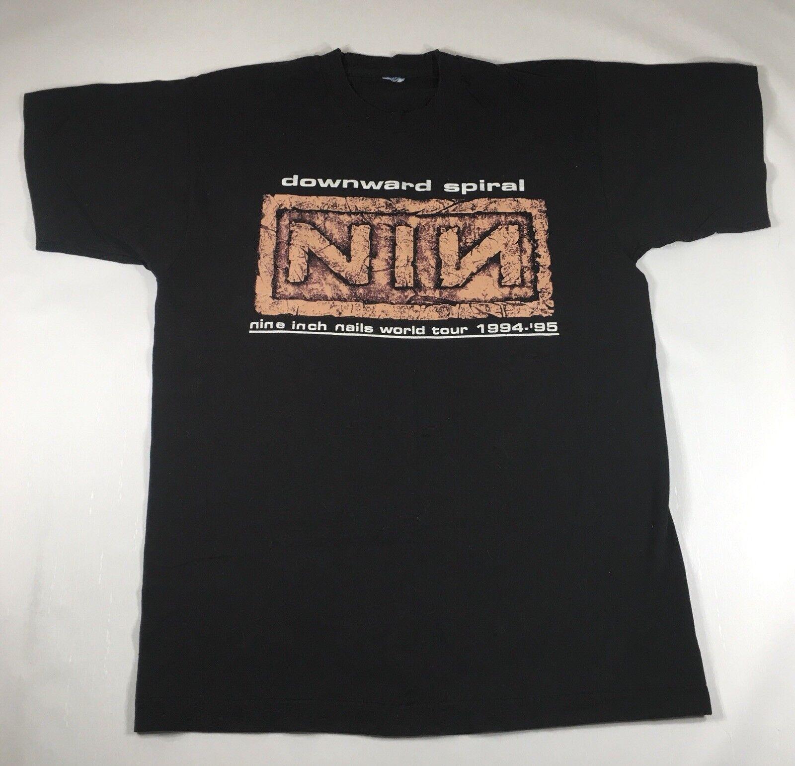 Vintage Nine Inch Nails Downward Spiral World Tour 94-95 Shirt Größe Large E015