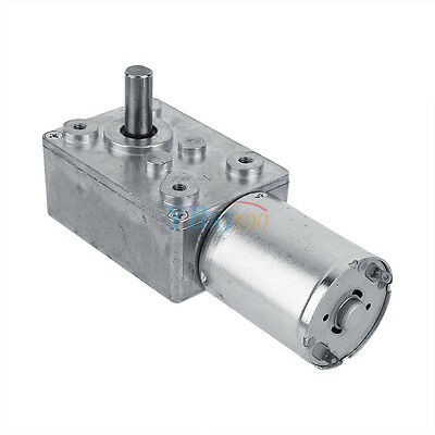 12V DC Metal Gear High Torque Turbine Turbo Worm Geared Reduction Motor