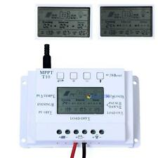 Solar Panel Regulator LCD 10A 12V/24V Auto MPPT Charge Controller Three Timer MT