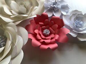 Paper flower template 8 smallt8 diy ebay image is loading paper flower template 8 small t8 diy mightylinksfo