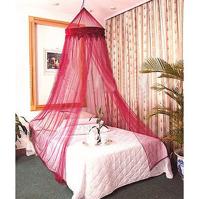 RED WINE COLOR BED CANOPY BEDROOM NETTING MOSQUITO NET CURTAIN DÉCOR INSECT MESH