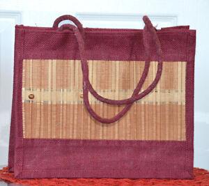 Natural-Eco-Friendly-Jute-Burlap-Straw-Hand-Woven-Bag-Cotton-Webbed-Handle