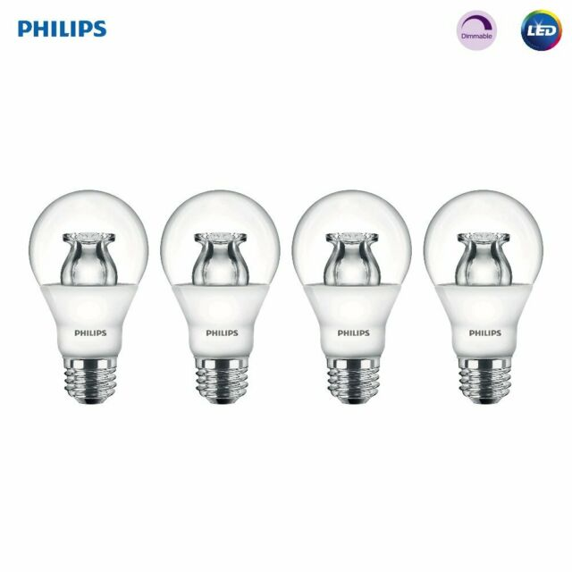 Philips Led Dimmable A19 Soft White Light Bulb With Warm Glow Effect 480 Lumen