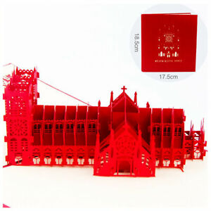 3D-Pop-Up-Greeting-Card-Birthday-Wedding-Valentine-Westminster-Abbey-3D-Card