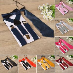 Children-Kids-Braces-Bow-Tie-Necktie-Set-Suspenders-With-Bowtie-Set-For-Boys
