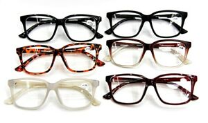 d65033850a Details about Unisex Stylish Large Frame Geek Nerd Fashion Reading Glasses  6 Colours TN44