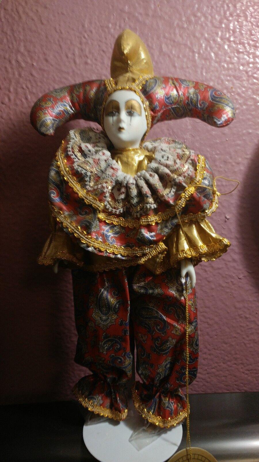 Vintage He  fatto & He Painted 12  Fine Collectible Porcelain bambola  alta quaità