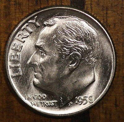 1958 10C Roosevelt Dime BU Silver