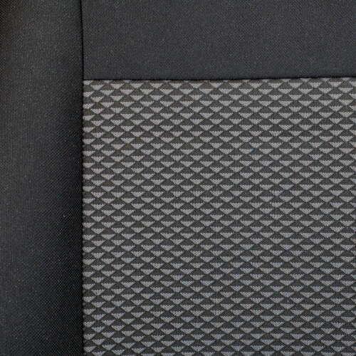 Schwarze-Graue Dreiecke für FORD MAVERICK Vorne Sitzbezüge