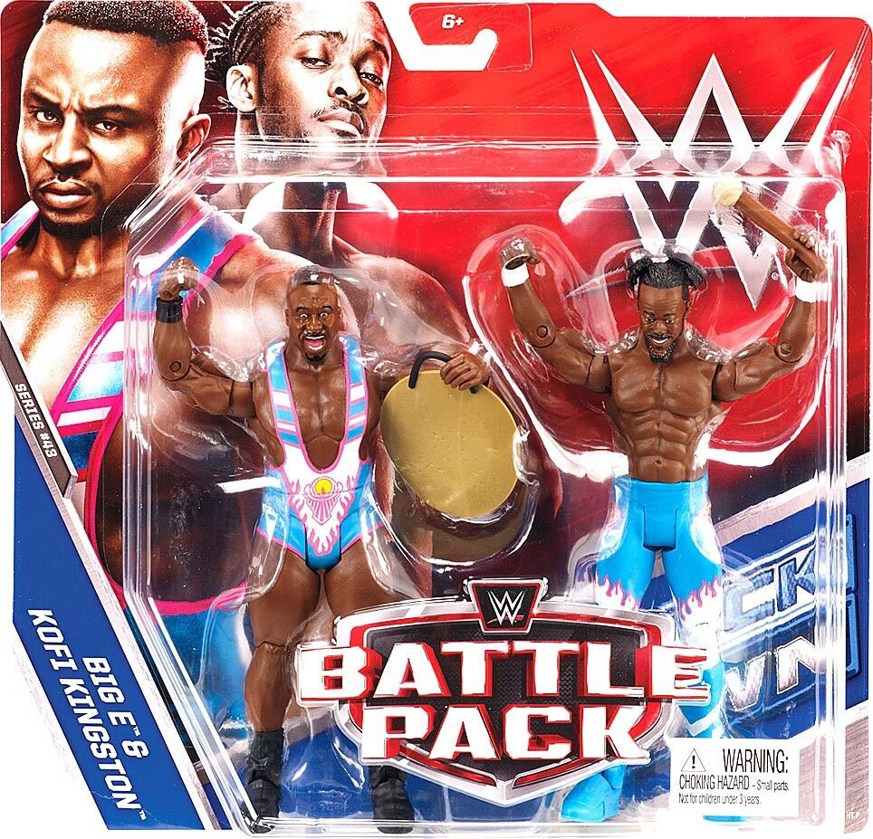 WWE Wrestling Series 43 Big E & Kofi Kingston (New Day) Action Figure 2-Pack