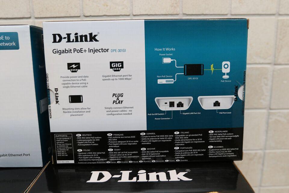 Andet, D-link PoE+ Injector, Perfekt