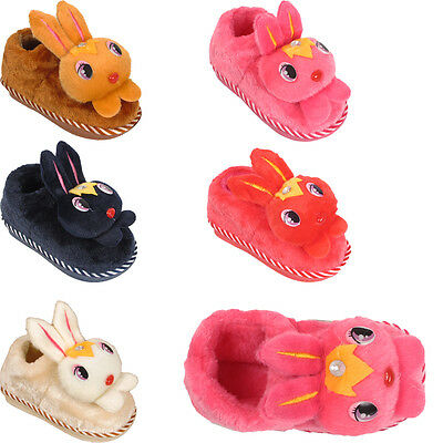Chicas Novedad Conejo Bunny Invierno Cálido Furry Casa Infantil Niños Niños Zapatilla