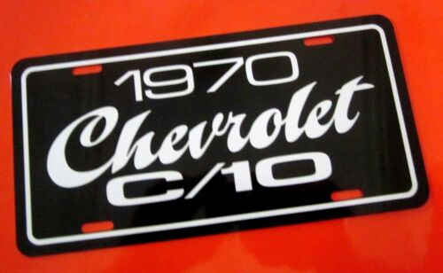 1970 Chevrolet C//10 pickup truck license plate tag 70 Chevy C10 half ton C-10