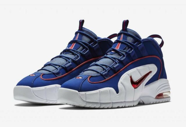 NIKE AIR MAX PENNY 685153 400 ROYAL BLUE RED WHITE DS SIZE: 9