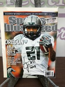 best website e1e79 e33ca Details about Oregon Ducks MaMichael James Sports Illustrated Signed COA  Free Shipping
