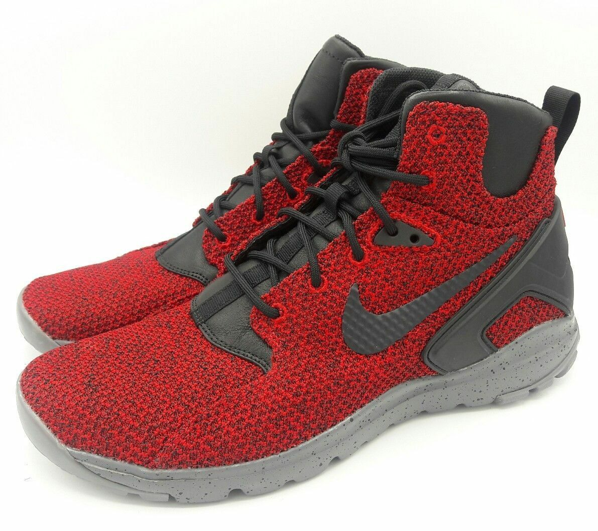 new concept 7524d 56f02 Nike Koth Ultra Mid KJCRD Knit Knit Knit Boots Red Grey Black  819681-600   Mens Size 10 DS 602534
