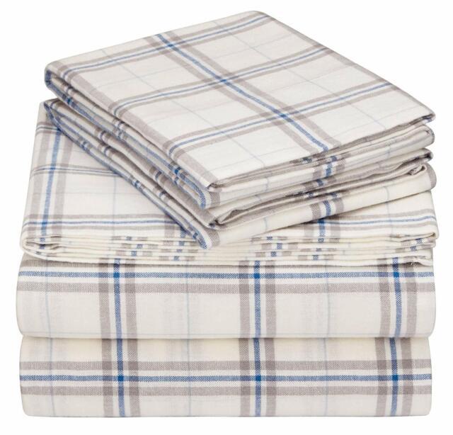 Pinzon Plaid Flannel Bed Sheet Set Twin Xl Blackwatch Plaid For Sale Online
