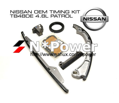 NISSAN OEM TIMING CHAIN TENSIONER KIT PATROL Y61 TB48 TB48DE 4.8L DOHC 24V 01-07