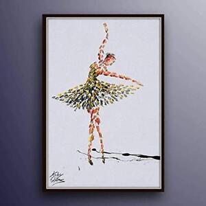 Ballerina-Woman-Figure-painting-40-034-original-oil-painting-on-canvas-handmade