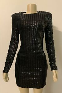 Forever-21-Black-Party-Sequin-Dress-Size-M