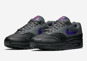 size 40 a0dfb 6a55c Details about 2018 Nike Air Max 1 SZ 9.5 Black Grey Purple PInk