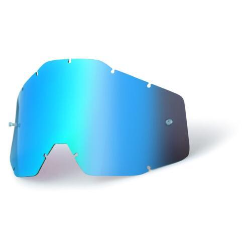 100/% percentuale disco RACECRAFT ACCURI Strata Occhiali Specchio Vetro Goggle Lense MX