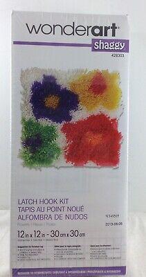 Flowers 12 X 12 WonderArt Shaggy Latch-Hook Kit