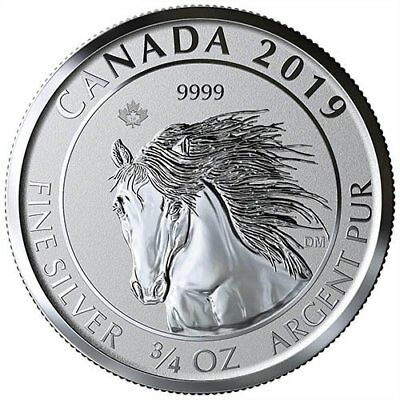 2019 Canadian Animal Portrait Series Wild Horse Mustang 34 Oz Silver Rp Coin Ebay