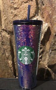 Purple Dark Sequins Starbucks Venti 2020 Holiday Cold Cup Tumbler