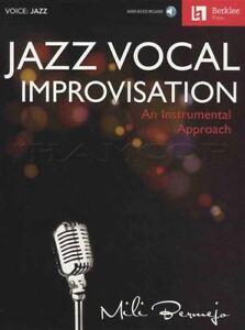 Courageux Jazz Vocal Improvisation Sheet Music Book With Audio Une Approche Instrumentale-afficher Le Titre D'origine Cadeau IdéAl Pour Toutes Les Occasions