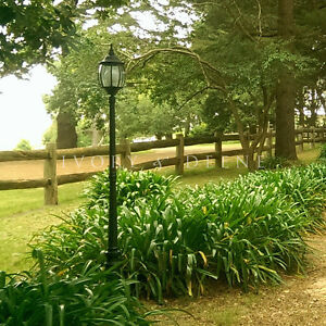 Image Is Loading GARDEN LAMP POST Tall Black Federation Style For