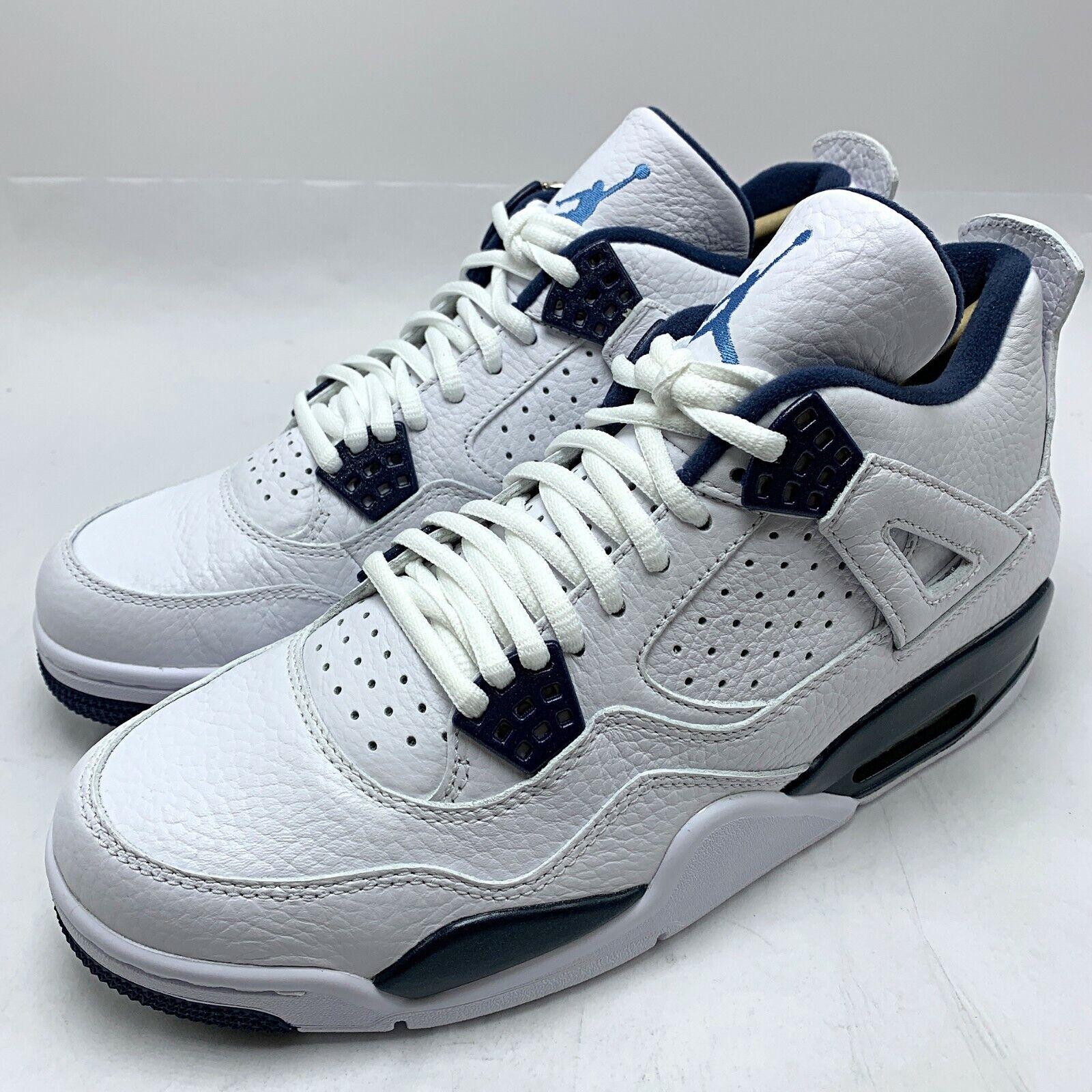 sito affidabile materiale selezionato tessuti pregiati Nike Air Jordan 4 Retro LS Men's Shoes White / Legend Blue - Navy ...
