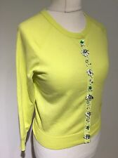 Karen Millen Yellow Jewelled Cardigan KM 3 12-14
